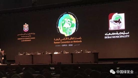 """10月22日,《湿地公约》第十三届缔约方大会在阿联酋迪拜开幕。 """"中国绿发会""""微信公众号 图"""